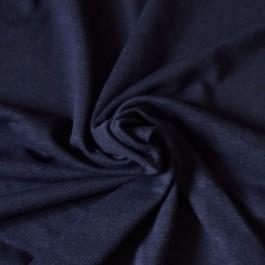 Tissu jersey chanvre et coton bio bleu marine