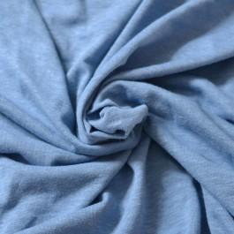 Jersey chanvre et coton bio bleu jean
