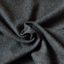 Tissu lainage gris foncé chiné manteau