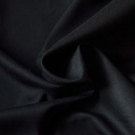 Tissu lainage sergé de laine coupon noir luxe
