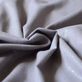 Tissu lin et viscose gris clair à paillettes argent glitter