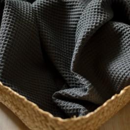 tissu éponge nid d'abeille au mètre en coton bio