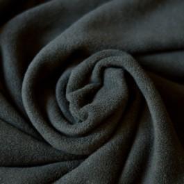 Tissu au mètre polaire de bambou couche lavable noire