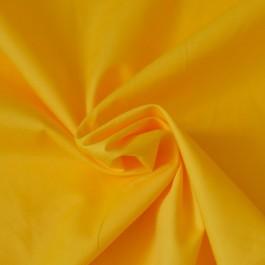 Tissu popeline coton jaune au mètre
