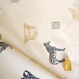 Tissu de coton à motif savane