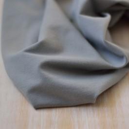Tissu sweat coton Bio bouclette gris