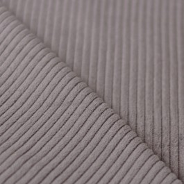 Tissu velours grosses côtes gris taupe couture