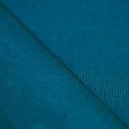 Tissu velours milleraies bleu canard 100% coton
