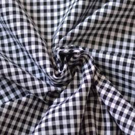 Tissu vichy au mètre noir et blanc
