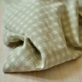 Tissu seersucker vichy à carreaux recyclé seaqual