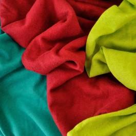 Coupon de 1,25 m de Maille jersey chanvre et coton BIO Noir