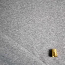 Maille sweat en coton bio gris chiné