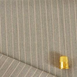 Coupon de 1,45 m de tissu extensible à rayure écru et beige