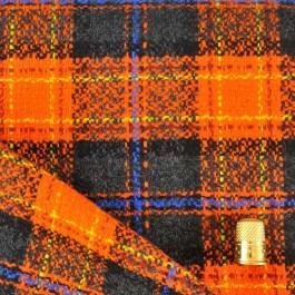 Coupon de 1,75 m de lainage écossais orange