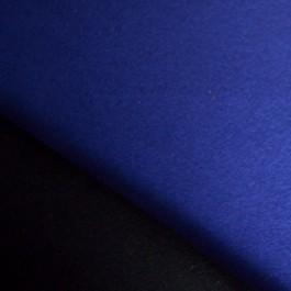 Tissu lainage bleu roi et noir réversible 100 % laine