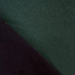 Tissu lainage noir et vert foncé réversible pour couture manteau
