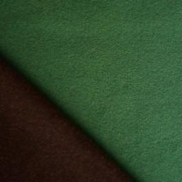 Tissu lainage marron et vert  réversible pour couture manteau