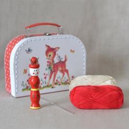 Valisette kit tricotin pour enfant Heïdi avec bambi