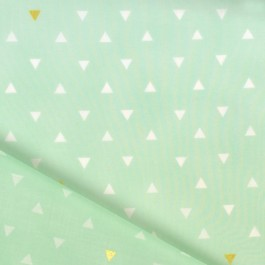 Triangle mint gold Art Gallery Fabrics, arizona de April Rhodes