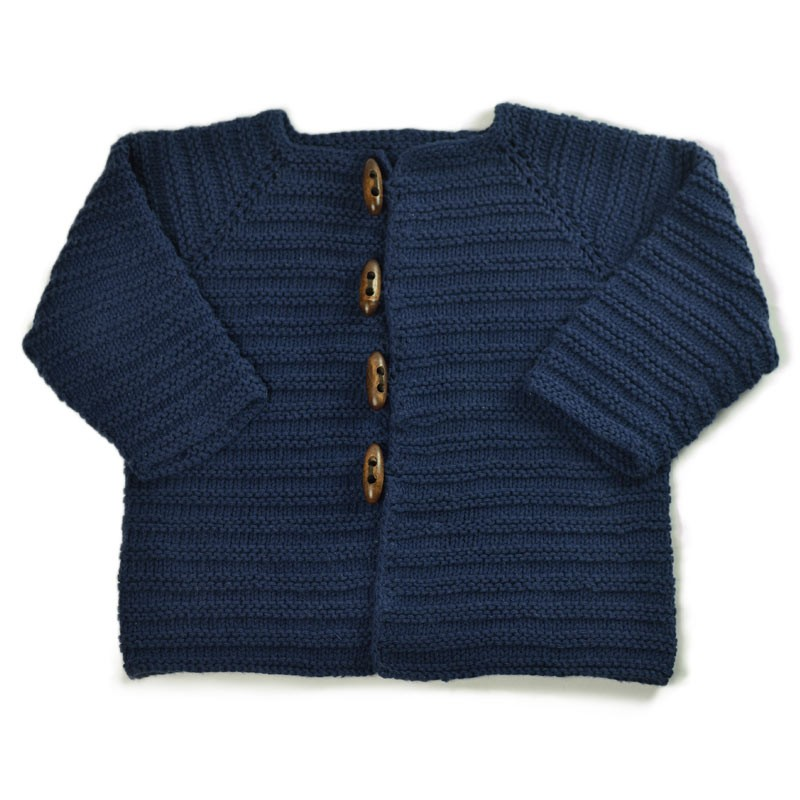 Kit tricot | bébé | gilet | top-down | coton bio ...