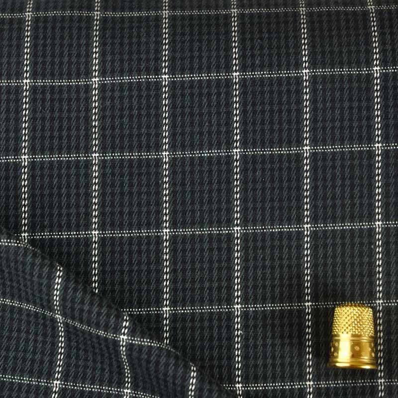 Tissu extensible carreaux noir gris et blanc a a patrons - Toile noir et blanc pas cher ...
