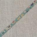 Biais à fleurs bleu vert Lecien