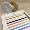 Rouleaux 25 m ruban satin aux reflets métalliques 6 à 15 mm