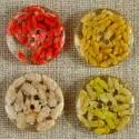Bouton avec inclusion de graines 15-20 mm 4 couleurs
