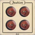 Bouton marron et noir 18 mm
