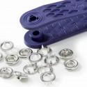 Bouton-pression Jersey - anneau argent, blanc ou nacré - 8,10,12 mm
