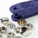 10 Boutons-pression à riveter Sport Mini 13 mm argent ou noir