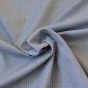 Tissu à carreaux bleu clair coton Bio