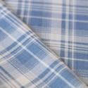 Tissu à carreaux bleu et blanc coton