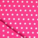 Tissu étoile rose et blanc coton