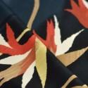 Tissu fluide grandes fleurs rouge