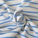 Tissu interlock marinière Bio bleu