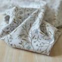 Tissu jersey fleurs vert et bleu coton Bio
