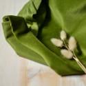 Tissu velours jersey éponge nicky vert avocat coton Bio