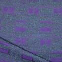 Lainage bouclettes violet et vert