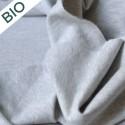 Molleton Bio gratté gris chiné