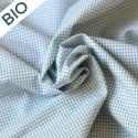 Tissu vichy vert carreaux 2mm Bio