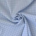 Tissu vichy à carreaux 5 mm bleu clair