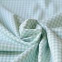 Tissu vichy à carreaux 5 mm vert menthe