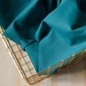 Tissu voile de coton bleu canard