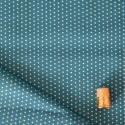Tissu imprimé à pois bleu lagoon