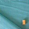 Tissu imprimé à carreaux bleu lagoon