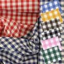 Tissu Vichy coton carreaux 6 mm 109 g/m2
