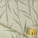 Coupon d'1,75 m de tissu chiné et dévoré vert