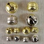Grelot doré ou nickelé 11, 13 ou 21 mm