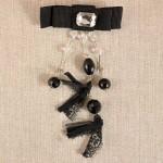 Broche gros grain strass et perles